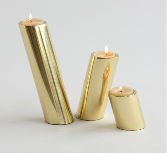 Slanted Candle holders