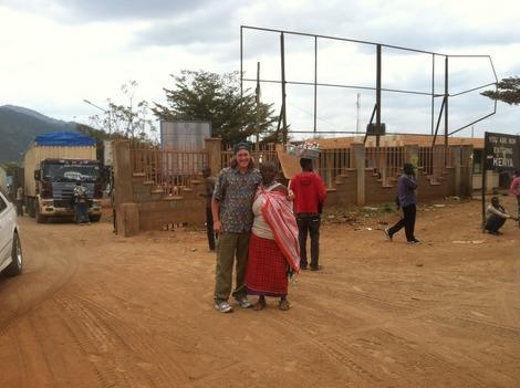 Buying Souvenirs at Namanga Road Border Crossing in Africa