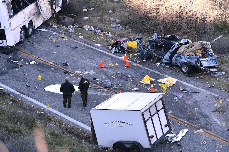 3 generations killed in Calif. tour bus crash