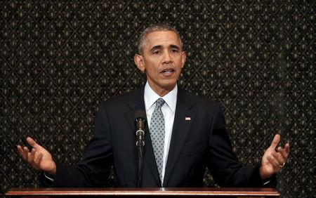 U.S. President Barack Obama addresses the Illinois General Assembly during a visit to Springfield, Illinois