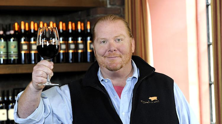 "Mario Batali co-hosts ""The Chew."""