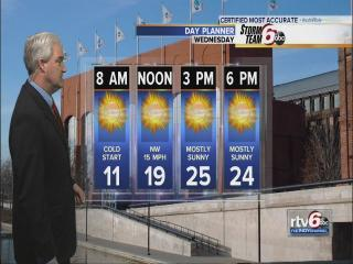 Frigid temps Tuesday