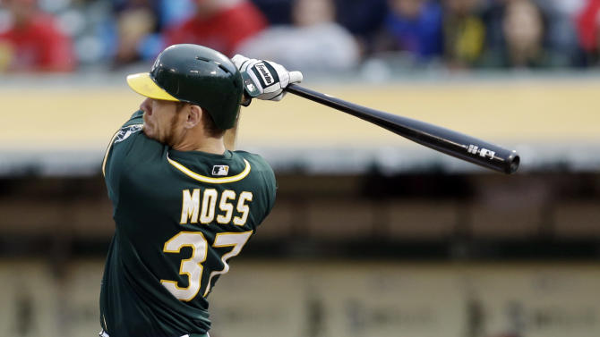 Moss, Donaldson power A's to 9-5 win over Angels
