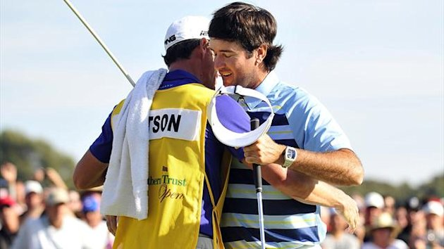 Bubba Watson celebrates his win at Riviera