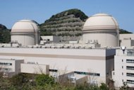 This file photo, taken in April, shows the third (R) and fourth reactor building of the Ohi nuclear power plant of the Kansai Electric Power Co (KEPCO) at Ohi town in Fukui prefecture, western Japan. Japan&#39;s prime minister, defying fierce public sentiment, has ordered nuclear reactors back online for the first time since the Fukushima accident, as he seeks to head off a summer energy crunch