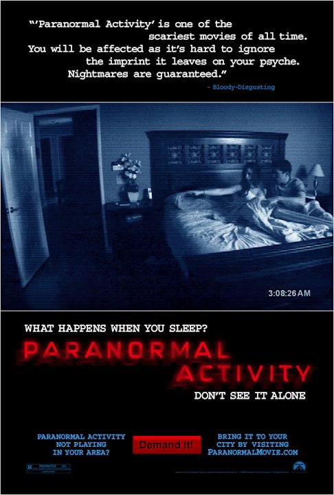 Paranormal Activity Poster Production Stills Paramount 2009