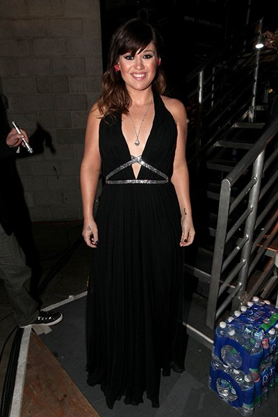 Backstage at the 2012 Grammy Awards
