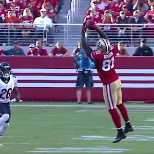 San Francisco 49ers wide receiver Anquan Boldin 21-yard reception