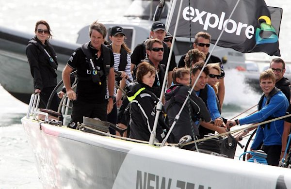 Kate rules the waves as royals go sailing in Auckland