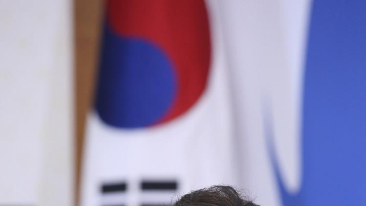 South Korean President Park Geun-hye speaks during a Cabinet meeting at the Presidential Blue House in Seoul