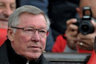 Manchester United's manager Sir Alex Ferguson, seen here before their English Premier League match against Swansea, at Old Trafford in Manchester. Man United won 2-0
