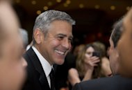 Actor George Clooney at the White House Correspondents Association Dinner on April 28. The event is an annual chance for media and political elites in Washington to rub shoulder with Hollywood&#39;s biggest stars