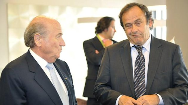 FIFA president Sepp Blatter (left) and UEFA equivalent Michel Platini