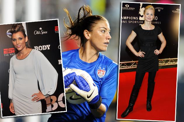 Lolo Jones, Hope Solo, Britta Steffen
