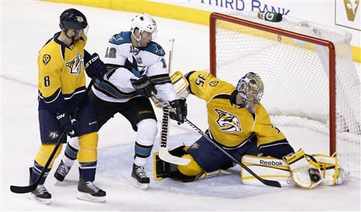 Wilson's OT goal lifts Predators past Sharks 1-0
