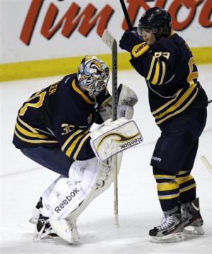 Miller makes 36 saves as Sabres blank Bruins 6-0