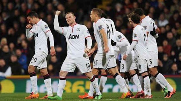 Crystal Palace - Manchester United / Wayne Rooney goal celebration