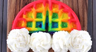 Rainbow Waffles