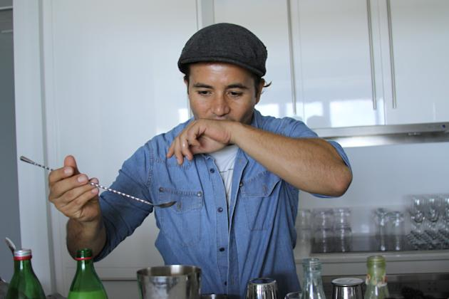 6. Use a bar spoon to give a final stir. Give your drink a taste.