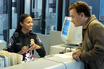 Tom Hanks and Zoe Saldana in DreamWorks' The Terminal