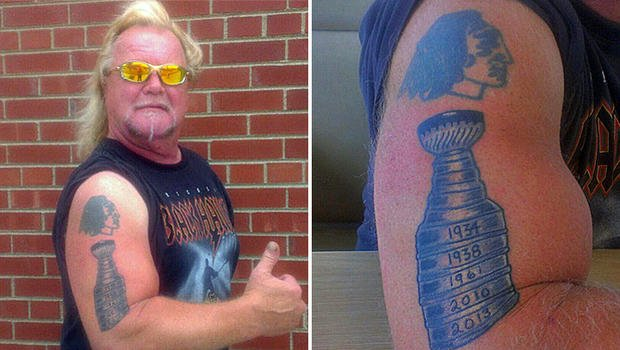 Blackhawks Fan Tests Hockey Gods, Adds '2013' To Stanley Cup Tattoo (Photo)