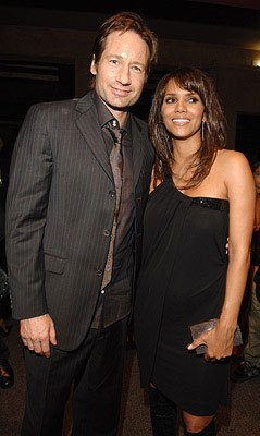David Duchovny and Halle Berry at the Los Angeles premiere of DreamWorks Pictures' Things We Lost in the Fire