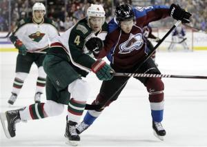 Wild break out of road funk with 3-2 win over Avs