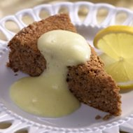 Haroset Cake with Zabaglione Sauce