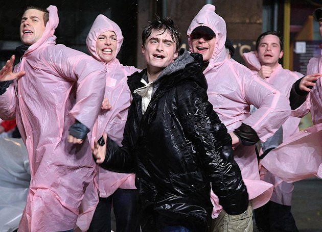 Daniel Radcliffe Macys Thanksgiving Day Parade Rehearsal