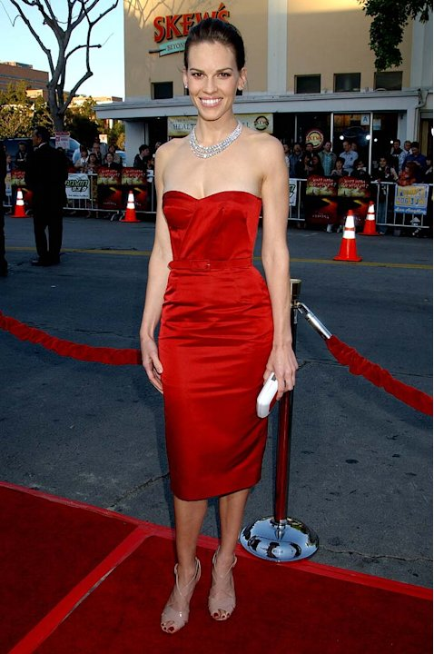 "Hilary Swank at ""The Reaping"" Los Angeles Premiere."