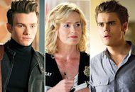 Chris Colfer, Elisabeth Shue, Paul Wesley | Photo Credits: Eddy Chen/FOX, Sonja Flemming/CBS, Bob Mahoney/The CW