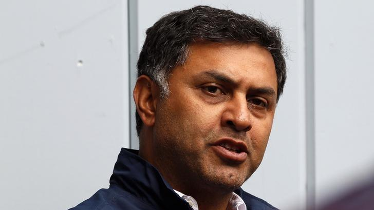 Nikesh Arora, Google chief business officer speaks at a news conference at the annual Allen and Co. conference in Sun Valley