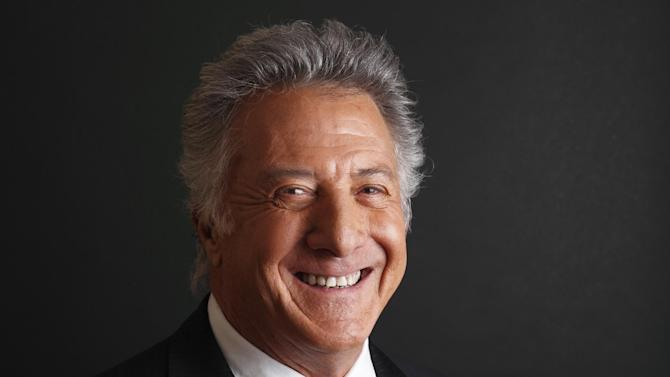 FILE - In this Friday, Jan. 13, 2012 file photo actor Dustin Hoffman poses for a portrait in Pasadena, Calif. Hoffman and David Letterman will soon find themselves in company they never expected in the nation's capital. The actor and comedian are among seven people receiving the 2012 Kennedy Center Honors, according to an announcement Wednesday. They join Chicago bluesman Buddy Guy, rock band Led Zeppelin and ballerina Natalia Makarova. (AP Photo/Danny Moloshok, File)