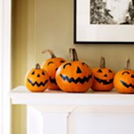 Use black markers to decorate instead of carving pumpkins