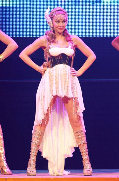 Kylie on her Aphrodite tour, 2011