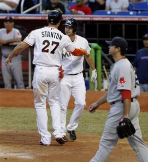 Marlins beat Beckett and Red Sox, 4-1
