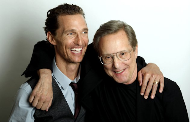 "This Jylu 18, 2012 photo shows actor Matthew McConaughey, left, and director William Friedkin, from the upcoming film ""Killer Joe"" in Beverly Hills, Calif. McConaughey plays the title role in the NC-17 rated film, which also stars Emile Hirsch, Gina Gershon and Thomas Haden Church. ""Killer Joe"" opens in theaters in New York on Friday, and other major cities next week. (Photo by Matt Sayles/Invision/AP)"