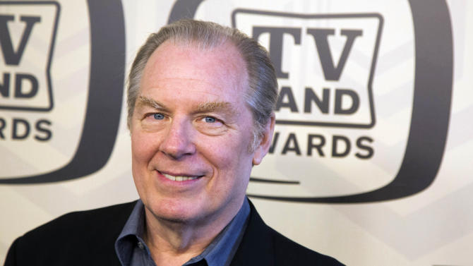"""In this April 14, 2012 photo, Michael McKean arrives to the TV Land Awards 10th Anniversary in New York. McKean, who portrayed """"Spinal Tap's"""" lead singer David St. Hubbins in the movie """"Spinal Tap,"""" and Lenny on the hit television show, """"Laverne & Shirley,"""" was injured when he was struck by a car in New York City on Tuesday, May 22, 2012. A spokesperson for McKean said that his leg was broken in the accident. (AP Photo/Charles Sykes)"""