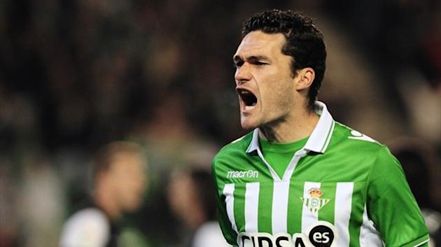 Real Betis' forward Jorge Molina (AFP)