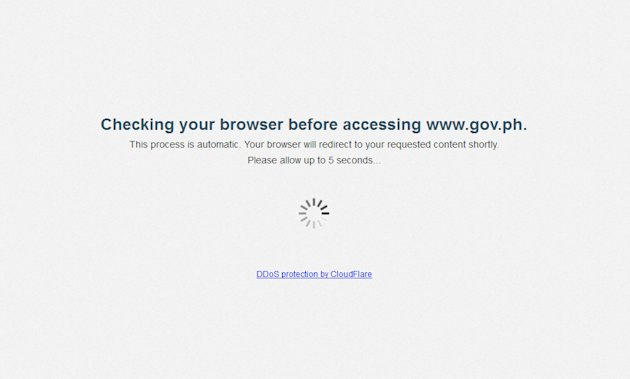 Hours after the Palace denied reported hacks on government websites, the Official Gazette has started running an 'e-checkpoint' Thursday. (Photo screen grabbed from the Official Gazette website)
