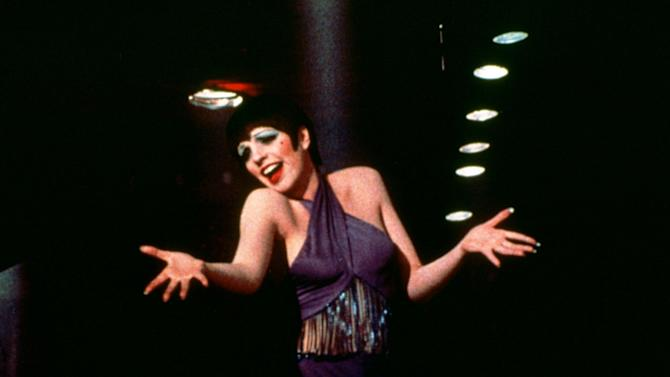 """This 1972 photo released by Warner Bros. Home Video shows Liza Minnelli as Sally Bowles in a scene from """"Cabaret.""""  The landmark film """"Cabaret"""", starring Liza Minnelli, Joel Grey and Michael York, has turned 41. All three actors will be attending an anniversary celebration screening planned Thursday, Jan. 31, 2013, at the Ziegfeld Theatre, where the movie first premiered in 1972. (AP Photo/Warner Bros. Home Video)"""