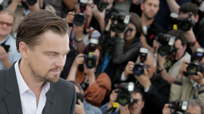 Actor Leonardo DiCaprio poses for photographers during a photo call for The Great Gatsby at the 66th international film festival, in Cannes, southern France, Wednesday, May 15, 2013. (AP Photo/Francois Mori)