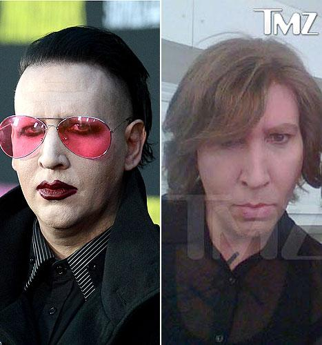 Marilyn Manson Is Unrecognizable Without Trademark Makeup on the Eastbound & Down Set: Picture