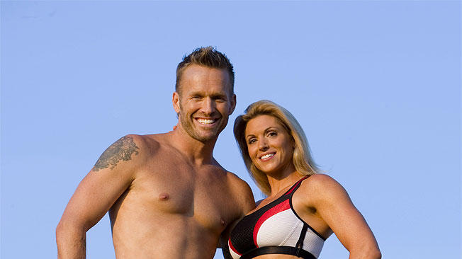 Bob Harper and Kim Lyons train the contestants on NBC's The Biggest Loser.