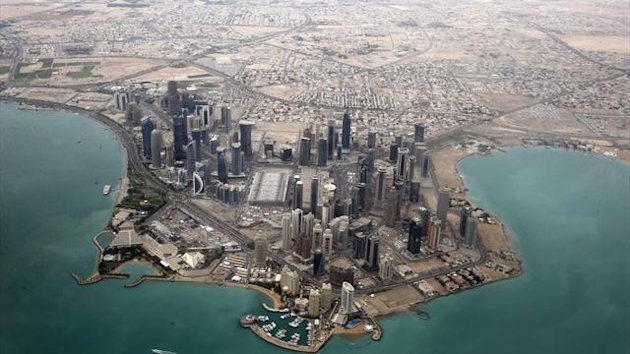 An aerial view shows Doha's diplomatic area, generic (Reuters)