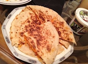 buffalo chicken quesadilla 2