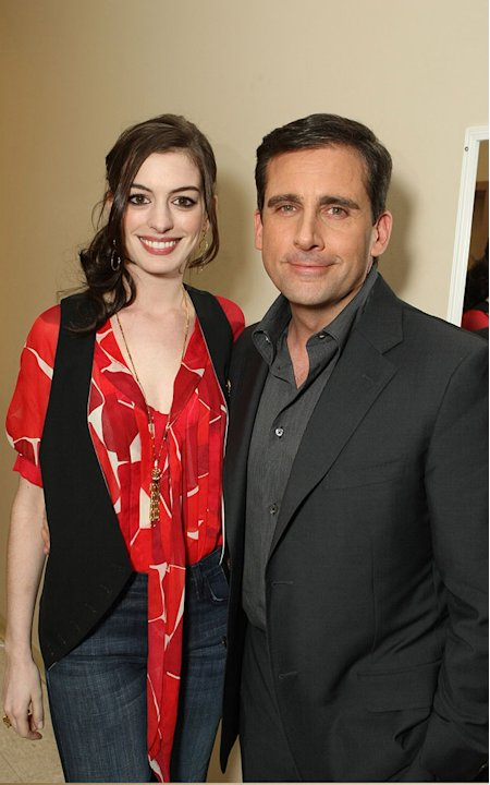Anne Hathaway and Steve Carell at Warner Bros. Pictures 'The Big Pictures 08' at ShoWest. - March 13, 2008 