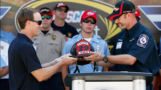 HARVICK HONORS HEROICS OF LOCAL, REGIONAL FIRST RESPONDERS DURING SPECIAL 9/11 TRIBUTE AT TEXAS MOTOR SPEEDWAY