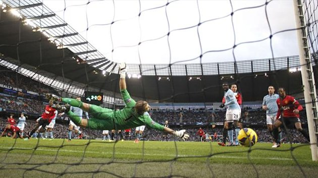 Robin van Persie's winner for Manchester United against Manchester City
