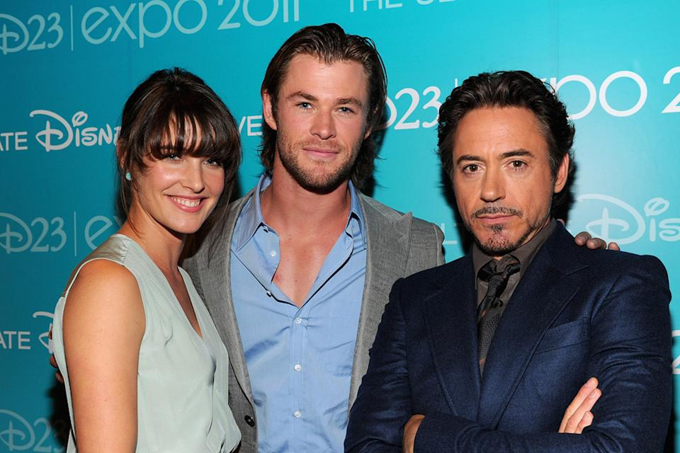 D23 Expo 2011 Event Cobie Smulders Chris Hemsworth Robert Downey Jr.
